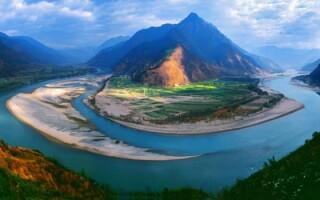 Где находится река Янцзы?