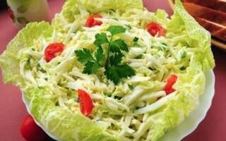 Салаты из китайской капусты: рецепты