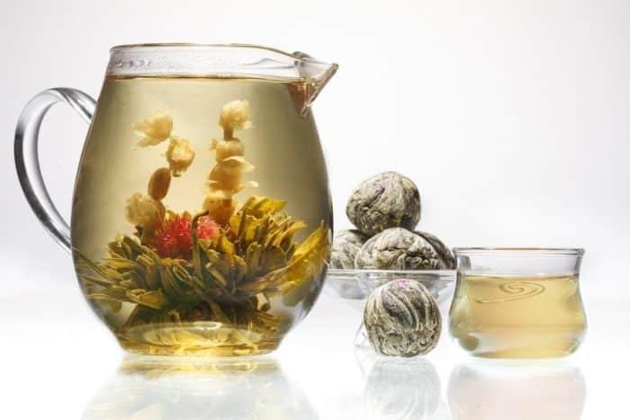 Китайский связанный чай - цветок