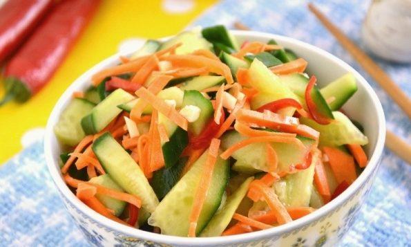 """Пикантный салат """"Янг бан хуанг гуа"""""""