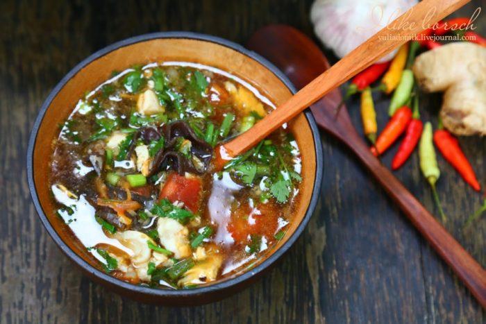 Традиционный острый суп по-китайски