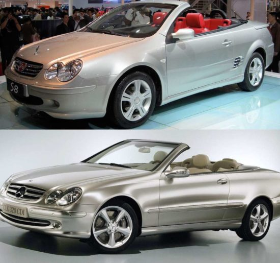 BYD S8 и Mercedes CLK