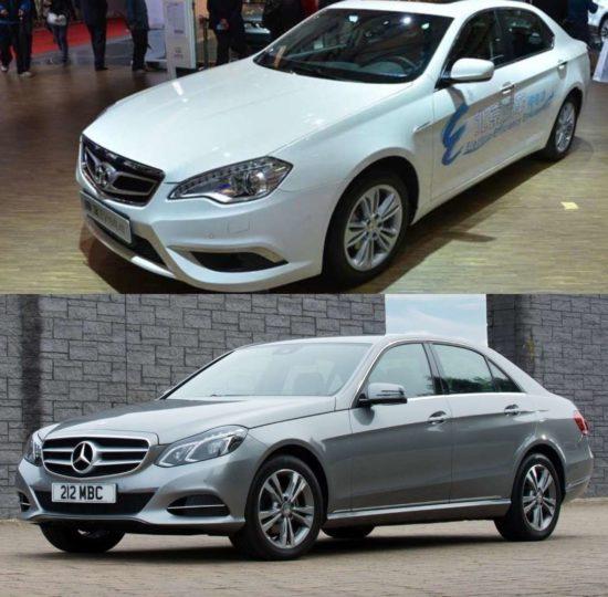 Beijing Auto Shenbao D320 и Mercedes E-класса