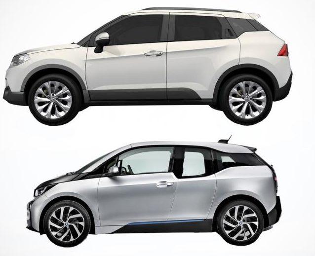 Brilliance V3 и BMW i3