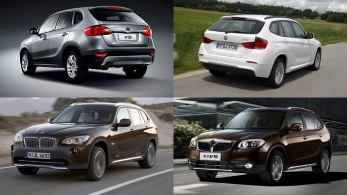 Brilliance V5 и BMW X1