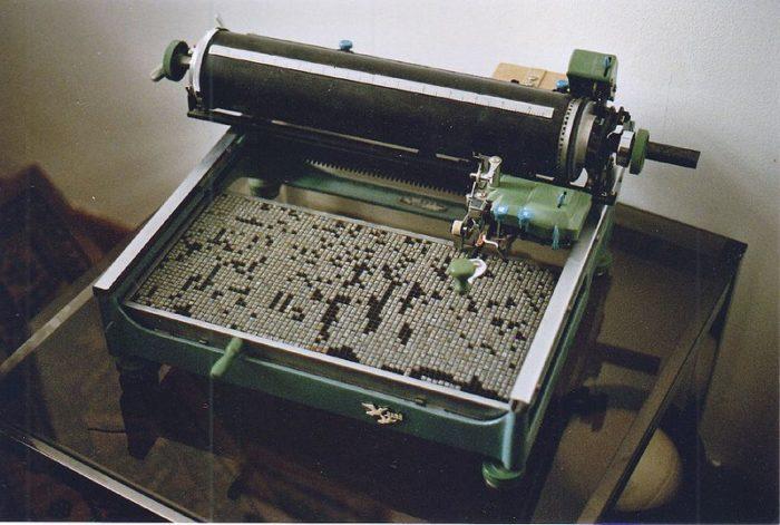 Древние печатные машинки