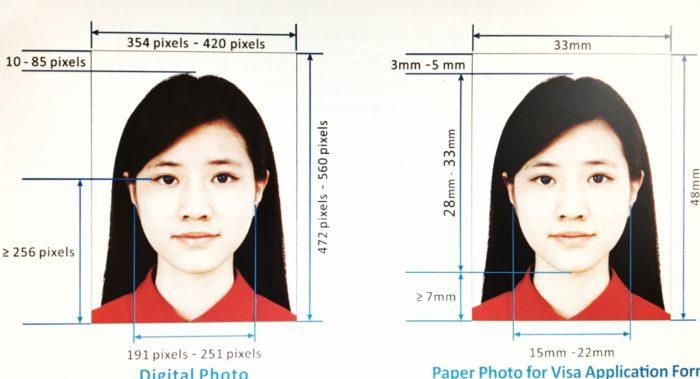 Фото на китайскую визу: размер и требования на 2018 год