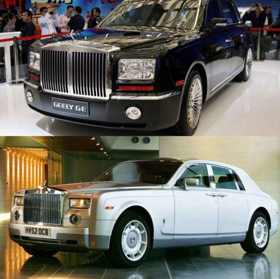 Geely GE и Rolls-Royce Phantom