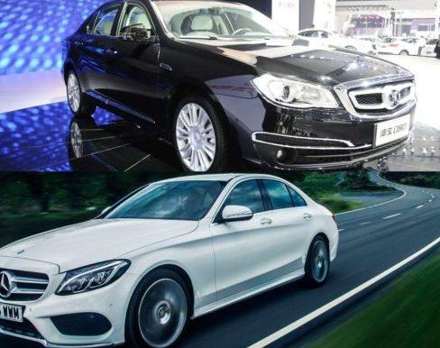 Henbao D80 и Mercedes C- класса