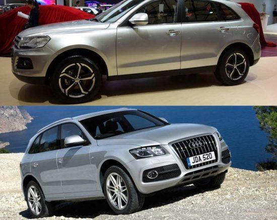Zotye Z600 и Audi Q5