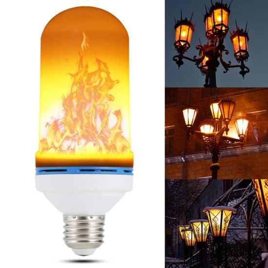 лампы с эффектом пламени