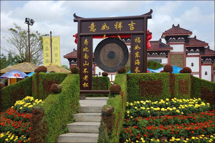 центр буддизма Наньшань, самый большой в Азии