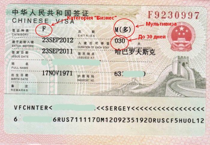 Бизнес виза в Китай