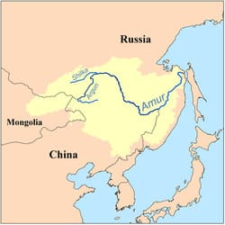 Река Хэйлунцзян на карте
