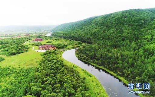 Река Хэйлунцзян в Китае